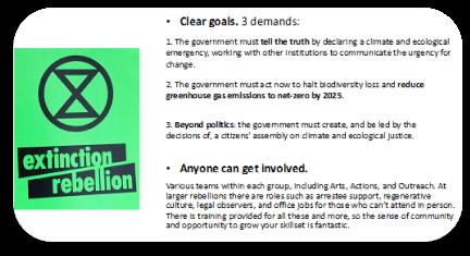Extinction Rebellion goals